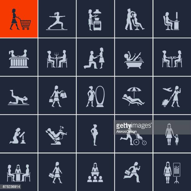 woamn in various lifestyles - gynecological examination stock illustrations, clip art, cartoons, & icons