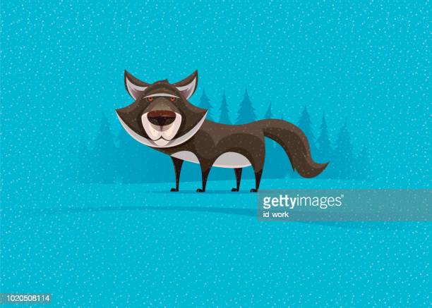 wolf character - one animal stock illustrations