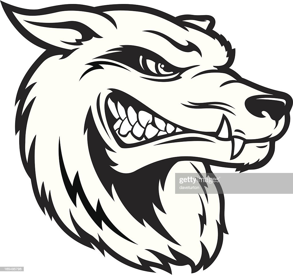 wolf head bampw vector art getty images