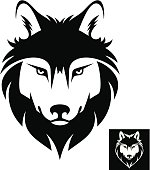 Wolf head logo or icon
