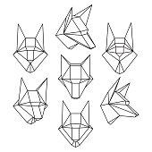 wolf head set