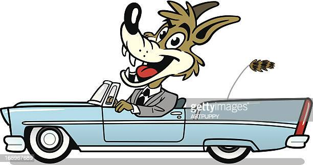 wolf in car - sexual harassment stock illustrations, clip art, cartoons, & icons