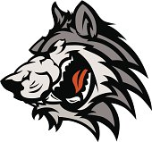 Wolf Mascot Vector Graphic