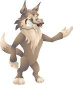 wolf presenting