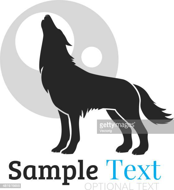 wolf - howling stock illustrations, clip art, cartoons, & icons