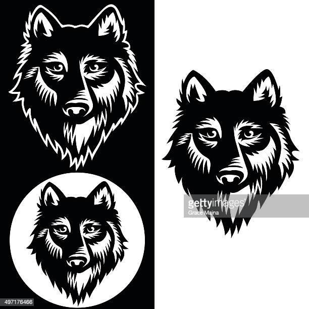 ilustrações de stock, clip art, desenhos animados e ícones de lobo ilustração vetorial-vector - lobo