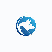 Wolves vector logo design