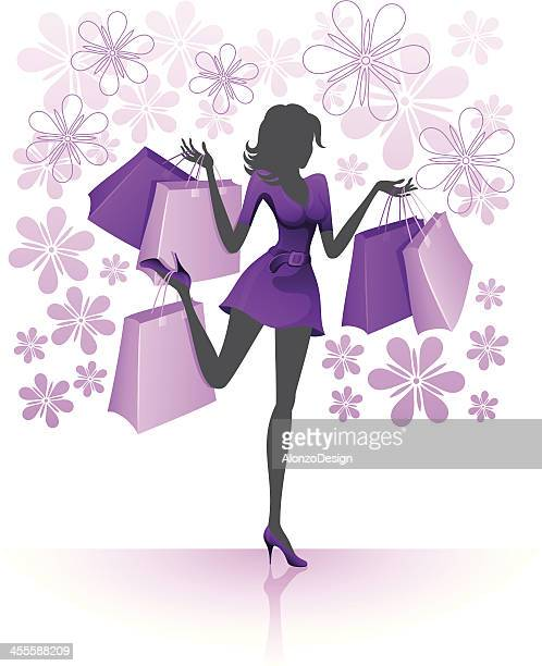 Woman after shopping