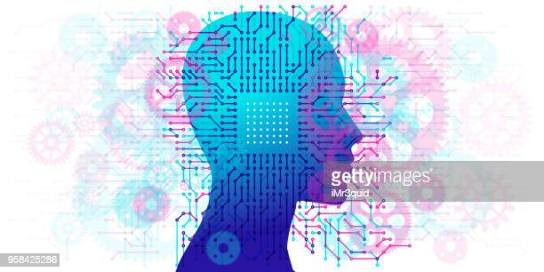 Woman A.I. - Circuit board and Gears