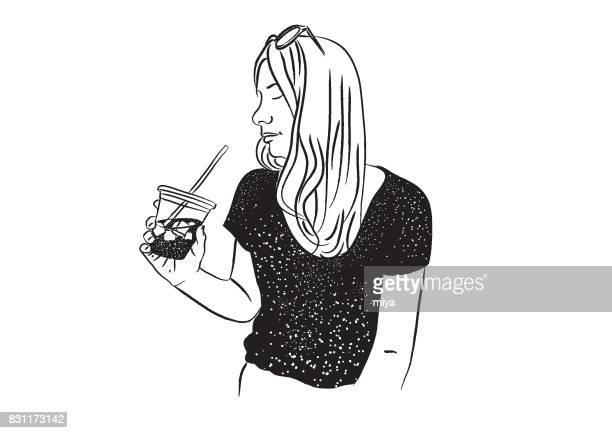 Frau und Kaffee