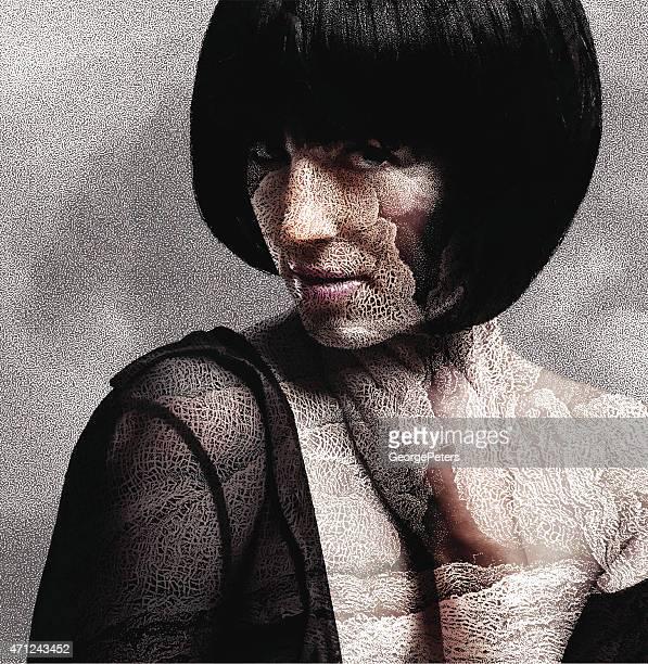 Frau und trockene Haut
