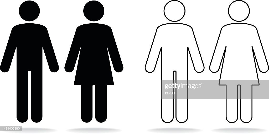 Woman and man icons : stock illustration