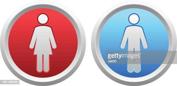 woman and man icons - generic description stock illustrations, clip art, cartoons, & icons