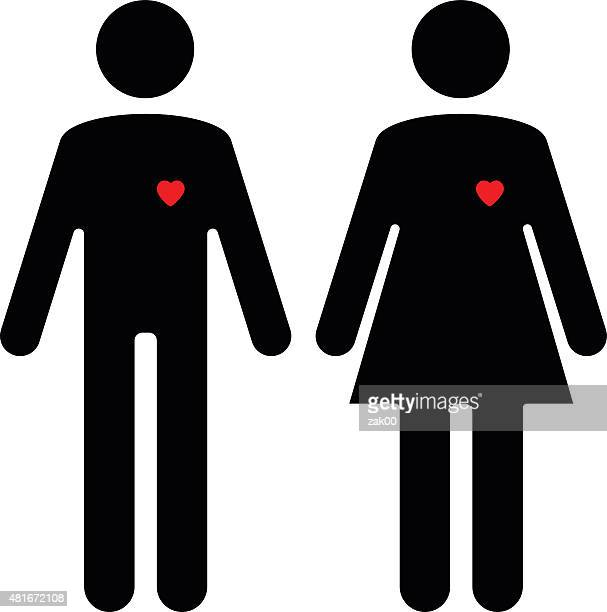 woman and man icons - toilet sign stock illustrations, clip art, cartoons, & icons