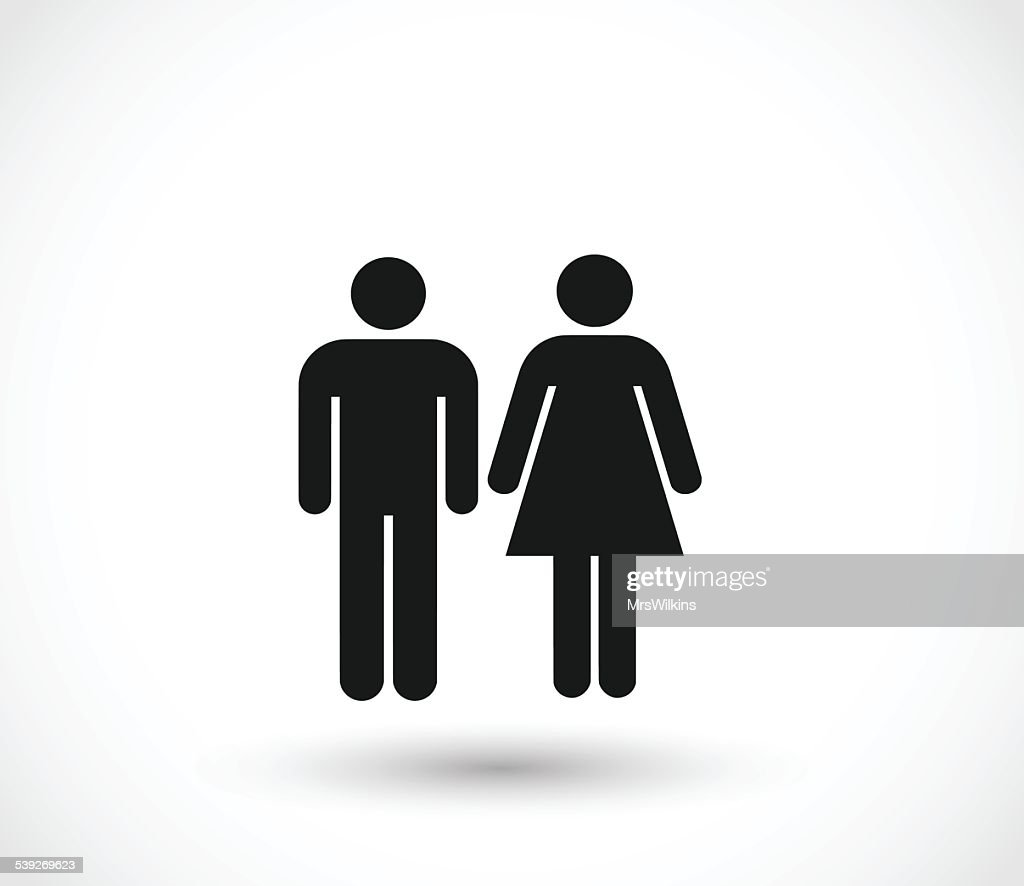 Woman and man icons vector illustration