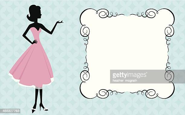 Woman and sign