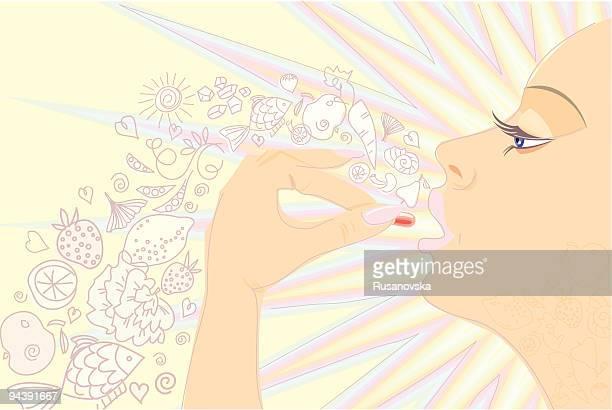 Mulher e vitaminas