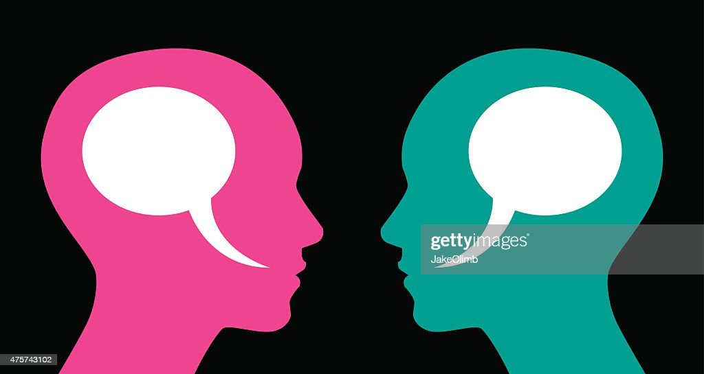 Woman and Woman Speech Bubbles