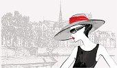 woman at Ile de la cite