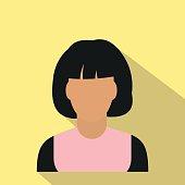 Woman avatar simbol