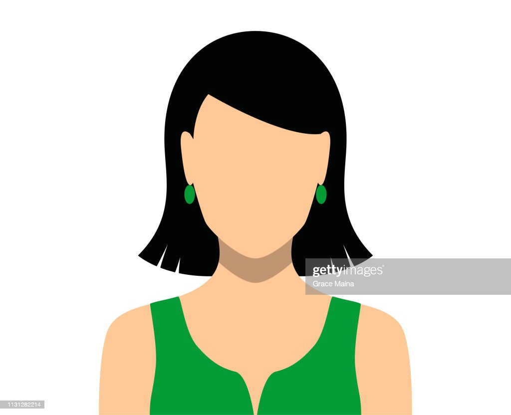 Woman Blank Face Icon : stock illustration