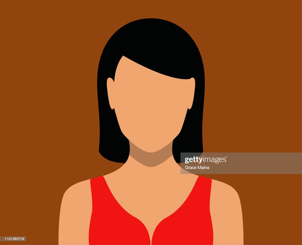 Woman Blank Face Icon : stock illustration