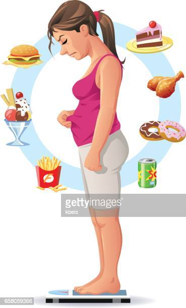 Woman Deciding To Go On A Diet