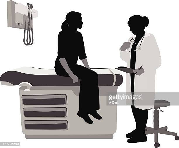 woman doctor - patient stock illustrations