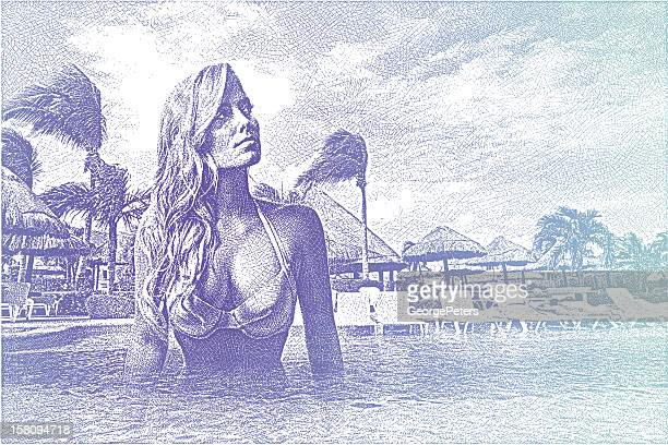 Woman Enjoying Resort Infinity Pool