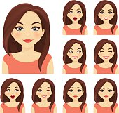 Woman expression set