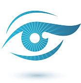 Woman eye logo beauty symbol
