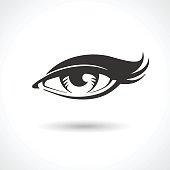 Woman eye vector drawing