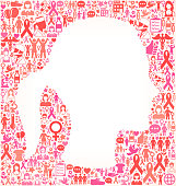 woman Face Breast Cancer Awareness royalty free vector art