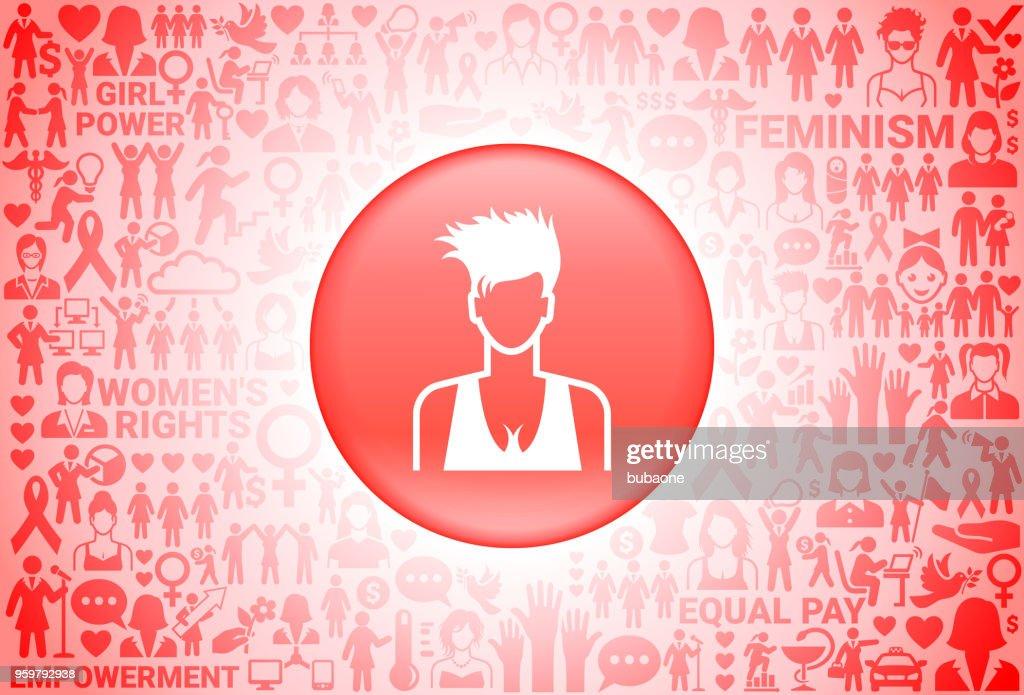 Frau Gesicht Girl Power Frauenrechte Hintergrund : Stock-Illustration