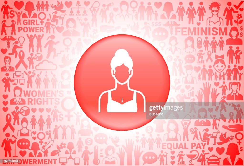 Woman Face Girl Power Women's Rights Background : Stock Illustration
