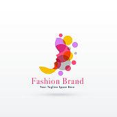 woman face logo concept design