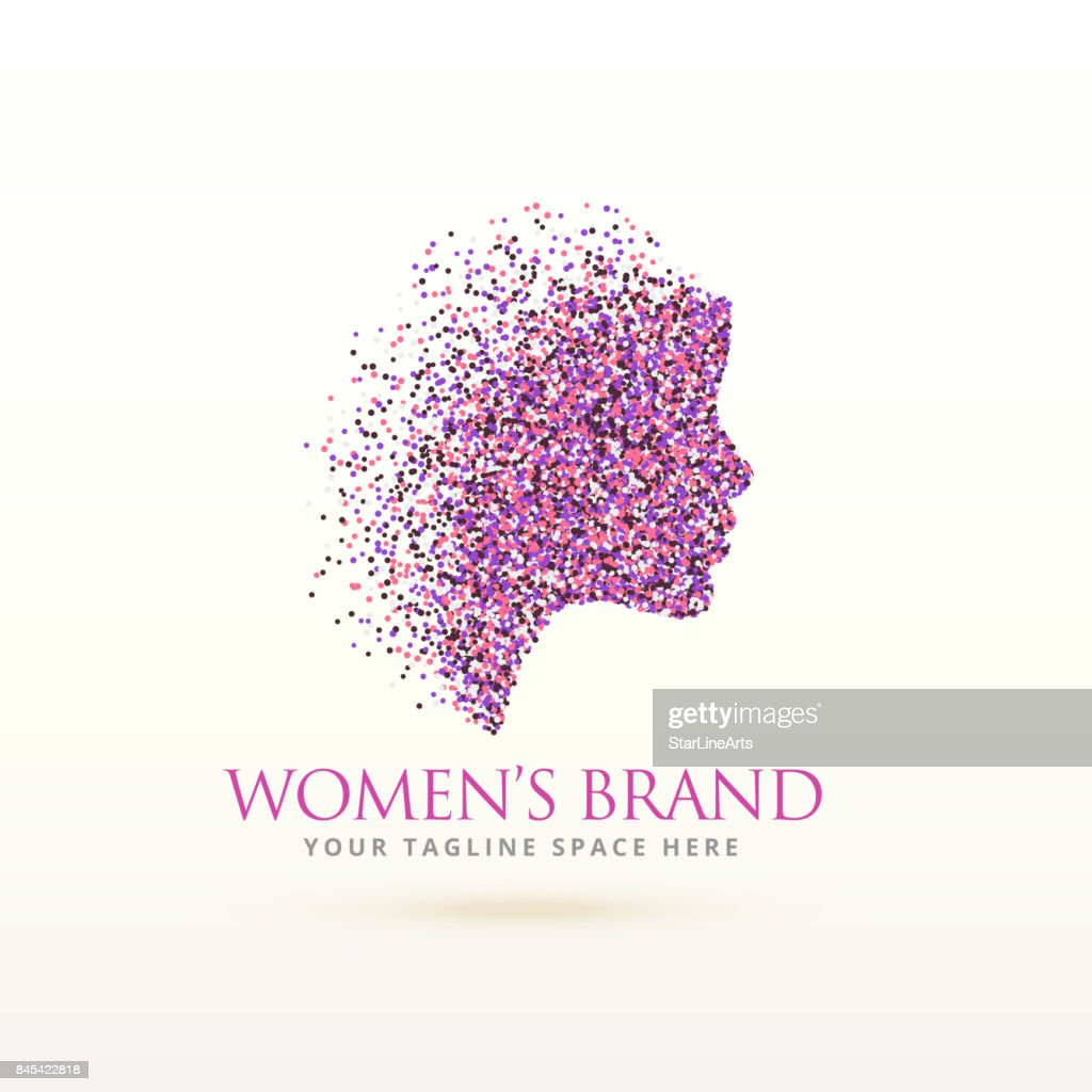 woman face logo design for feminism concept
