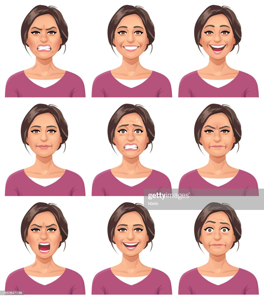 Woman- Facial Expressions