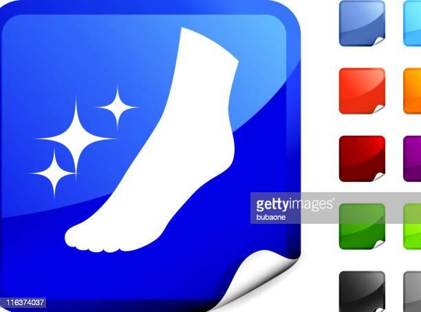 woman foot pedicure internet royalty free vector art - toe stock illustrations, clip art, cartoons, & icons