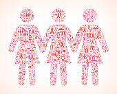 woman Group Breast Cancer Awareness royalty free vector art