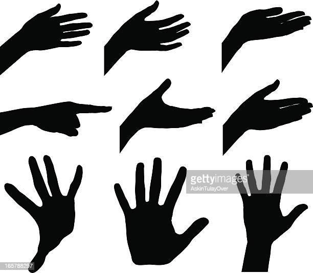 ilustrações, clipart, desenhos animados e ícones de mulher as mãos - vista frontal