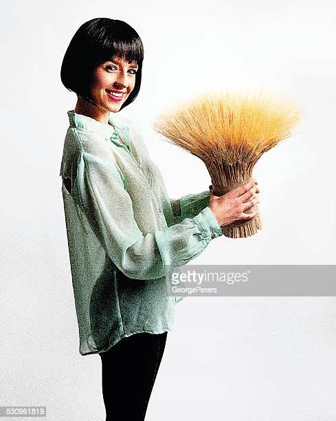 Donna con Fascio di grano
