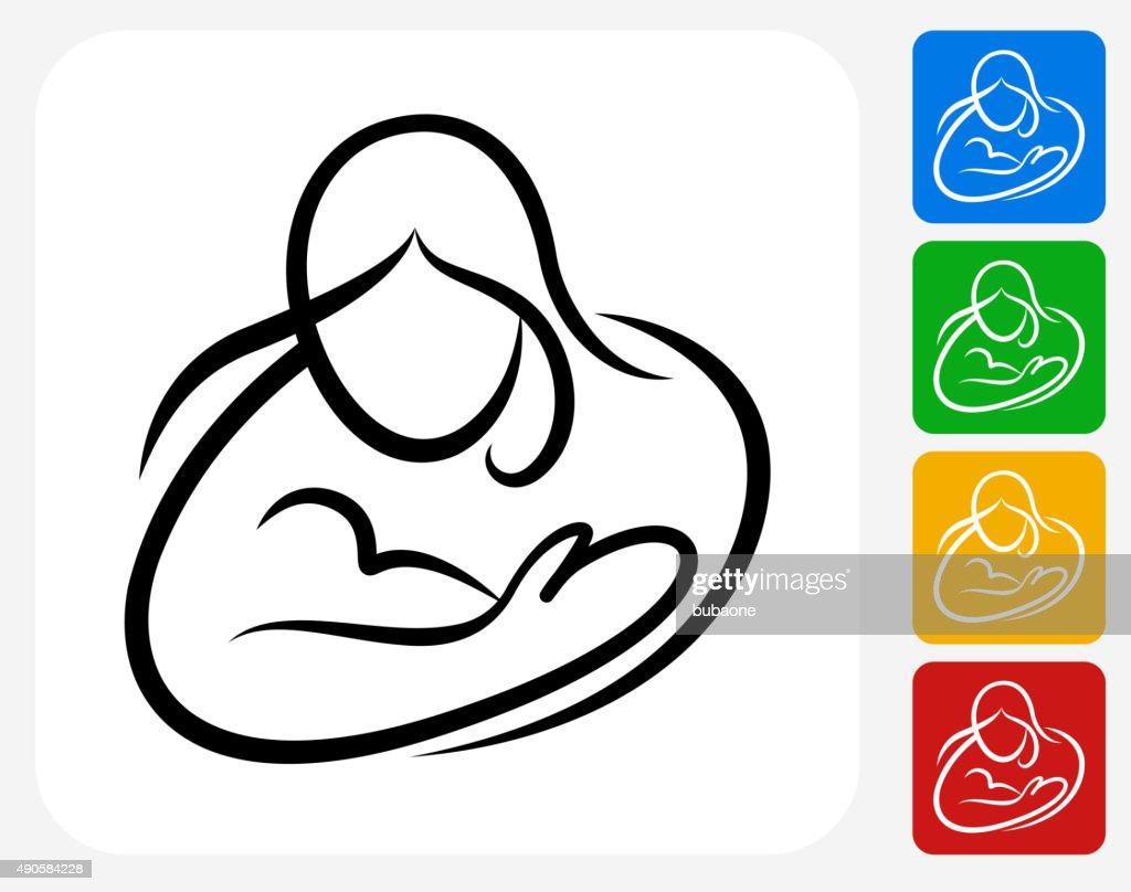 Woman Icon Flat Graphic Design : stock illustration