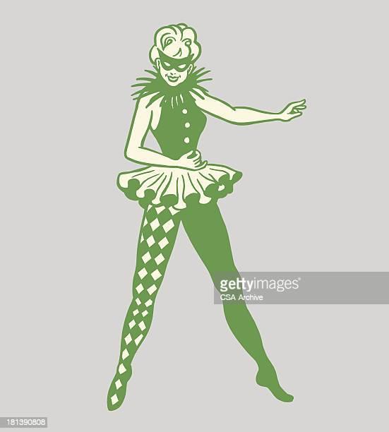 Mujer en un disfraz de baile
