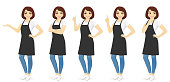 Woman in apron