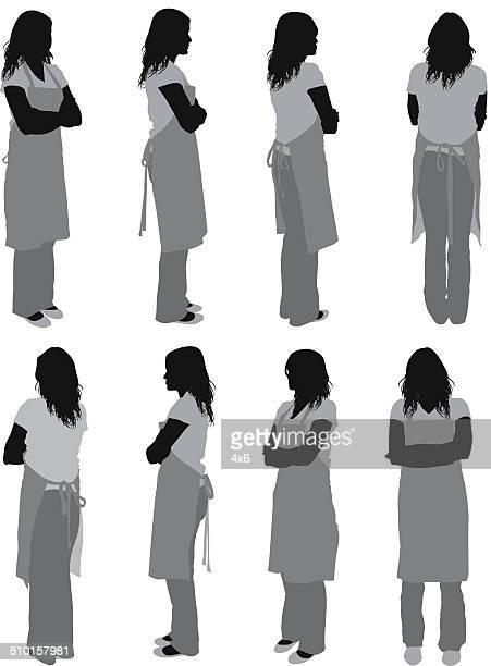 女性のエプロン - 主婦業点のイラスト素材/クリップアート素材/マンガ素材/アイコン素材