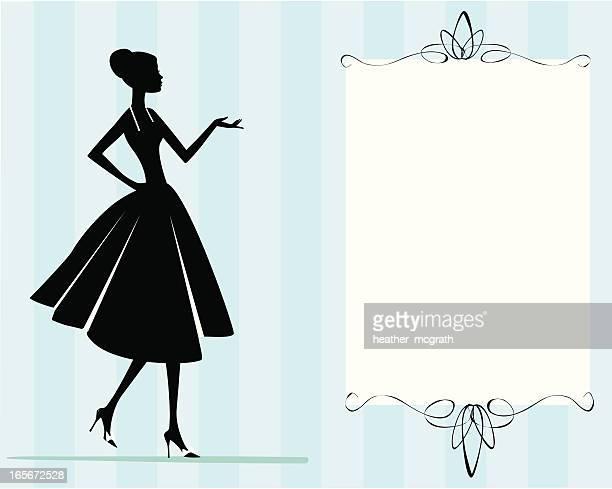 Woman in Dress Invitation