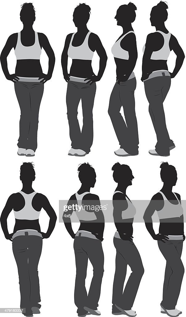Woman in fitness activewear : stock illustration