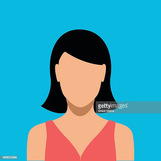 woman interface icon - vector - 2015 stock illustrations