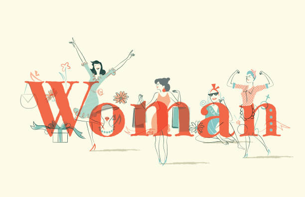 woman issues - femininity stock illustrations
